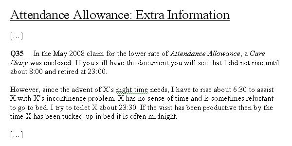 Attendance Allowance Higher Rate  Talking Point